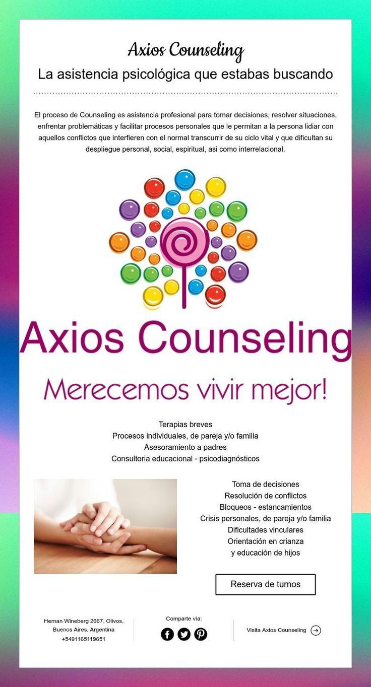 Axios Counseling  La asistencia psicológica que estabas buscando