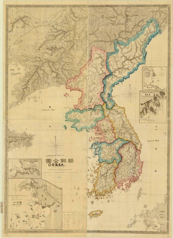 2123 best maps images on pinterest cartography maps and antique 1875 japanese map of korea full title chosen zenzu by rikugun sanbokyoku publicscrutiny Choice Image