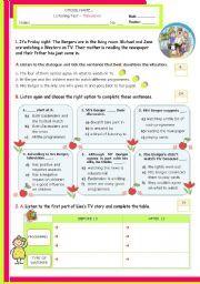 English teaching worksheets: Listening tests