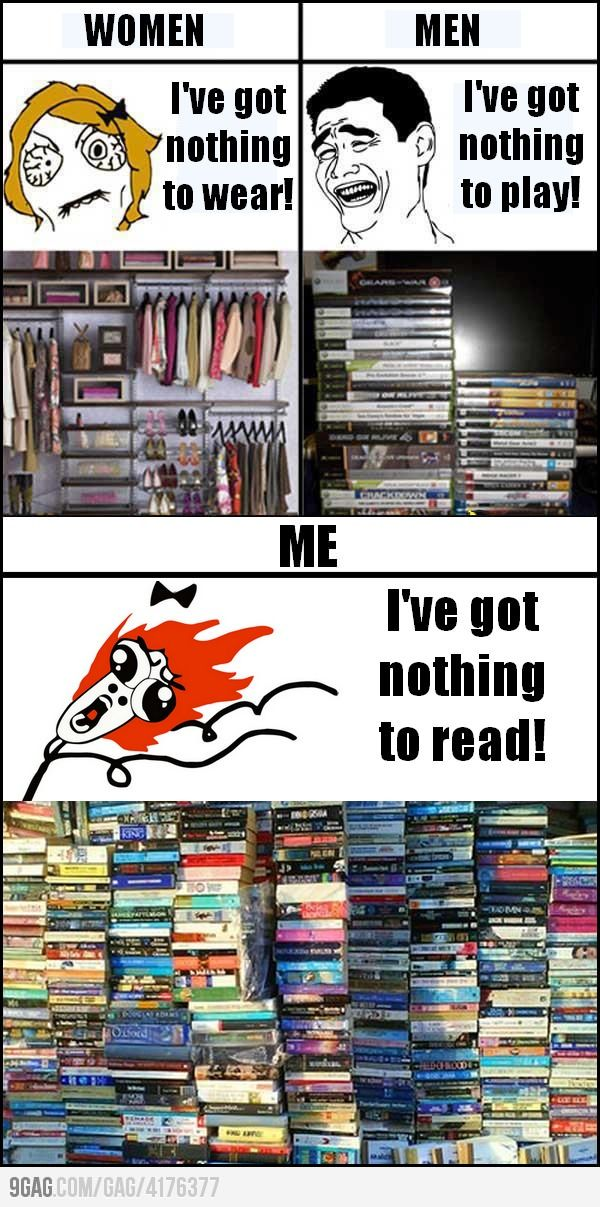 I've got nothing to read! Guess I should go buy even more books :-)