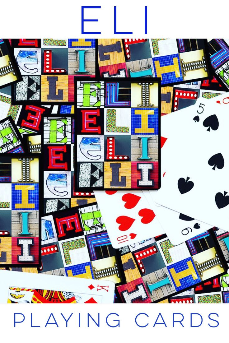 These custom playing cards featuring the name ELI in photos of sign letters make an awesome gift for guys and kids! Just whip them out at your next poker or card game :-)