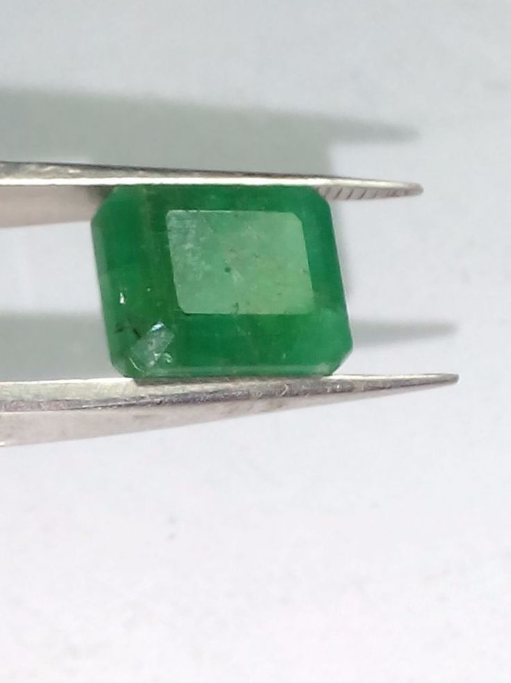 6.90 Cts Natural Emerald Gemstone Brazilian Octagon Shape Ring Size 12X9X7 MM #Unbranded