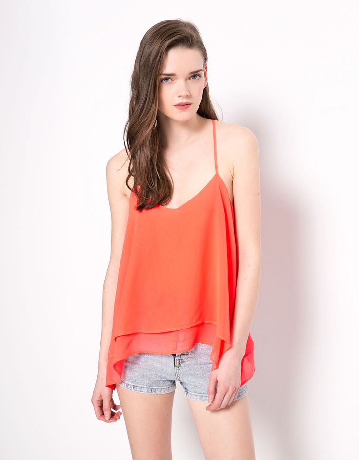 Top Bershka tirante fino - Tops & Bodies - Bershka Colombia