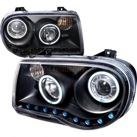 Spec-D 3LHP-300C05JM-KS | 2007 Chrysler 300 Black CCFL Halo Headlights for Sedan