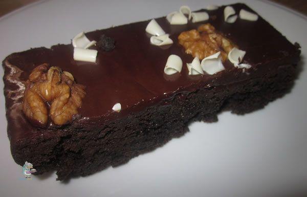 Receta casera del brownie de chocolate casero