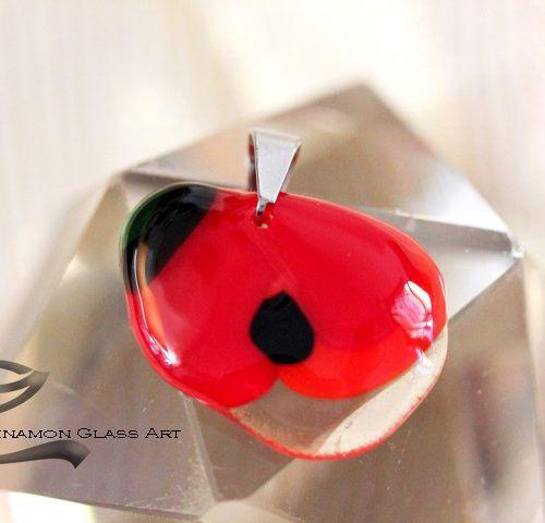 Vidám pipacs, Virágos üveg medál, pipacs-uveg-medal-4b-small
