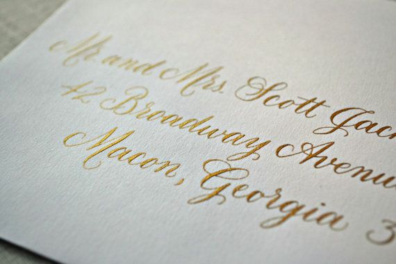 Handwritten Calligraphy Envelope Addressing  by GraceCalligraphy Formal and pretty