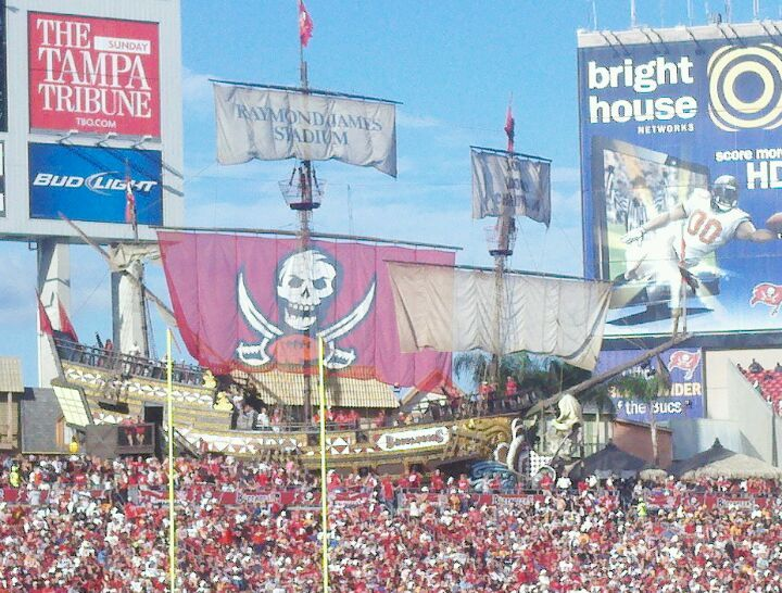 Raymond James Stadium in Tampa, FL.  Home of the Tampa Bay Buccaneers