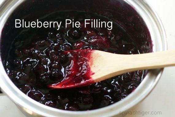 Homemade Blueberry Pie Filling