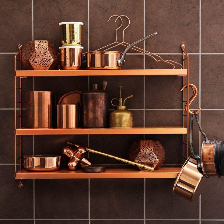 String Pocket Copper/Copper Vägghylla | String | Länna Möbler | Handla online