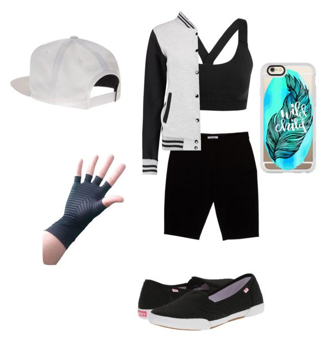 """""""Untitled #117"""" by nashmeria on Polyvore featuring Ivy Park, Moschino, Roxy, Mitchell & Ness and Casetify"""