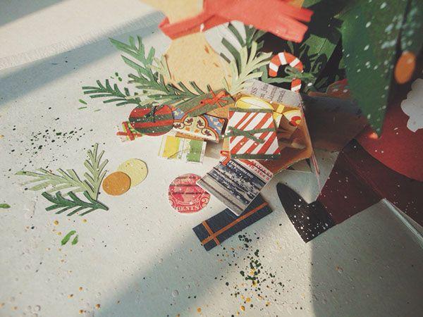Christmas pop-up card on Behance