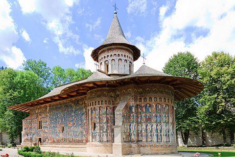 Voronet església