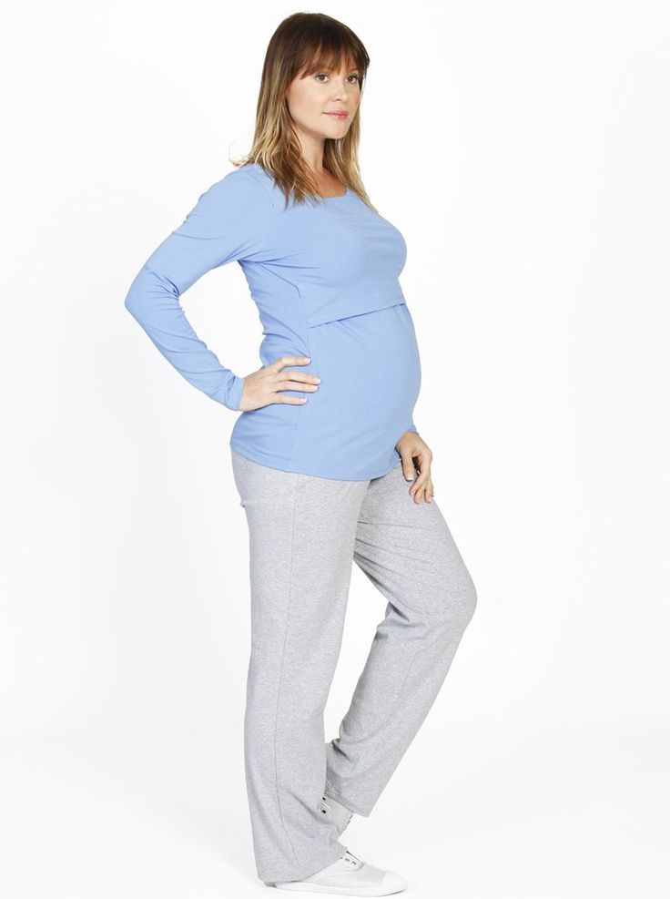 Long Sleeve Nursing Top Lounge Pants Set, just $49.95, SAVE $44.95! The long sleeve nursing top means you can breastfeed at night in winter and still stay warm.