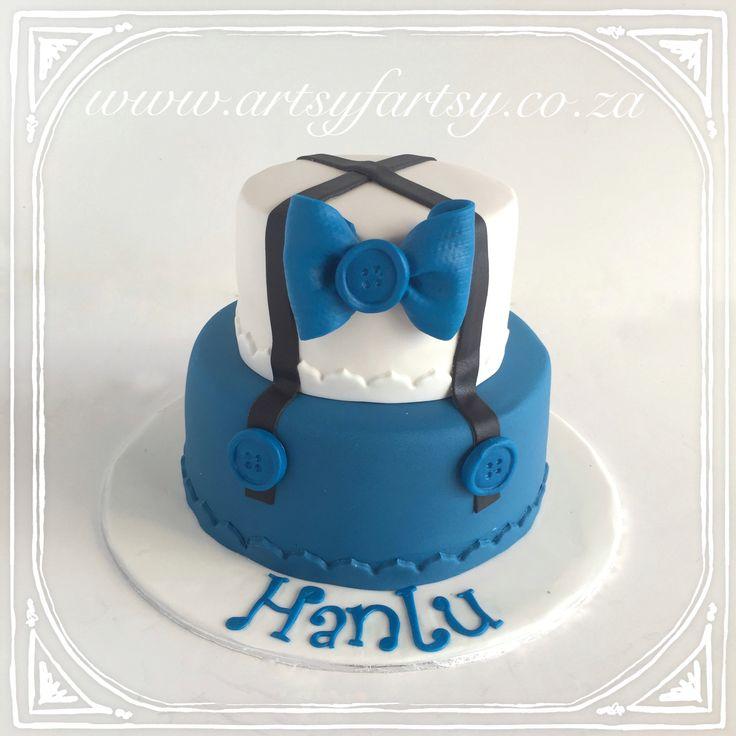 Little Man Bow Tie Cake #littlemancake #bowtiecake