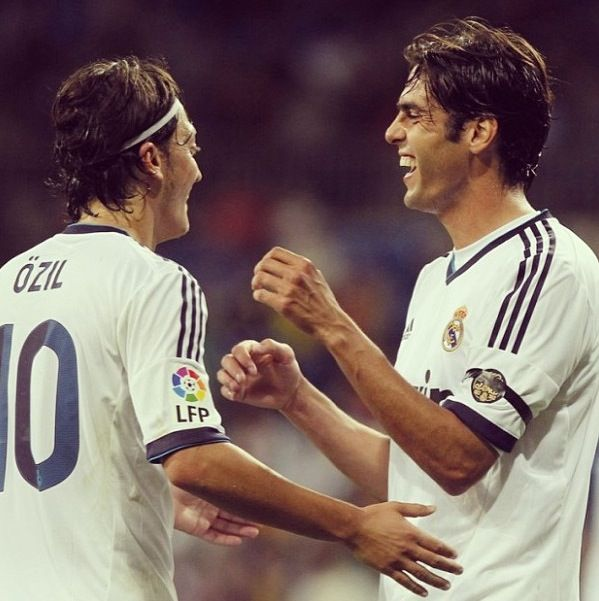 Kaka and Özil  Real Madrid