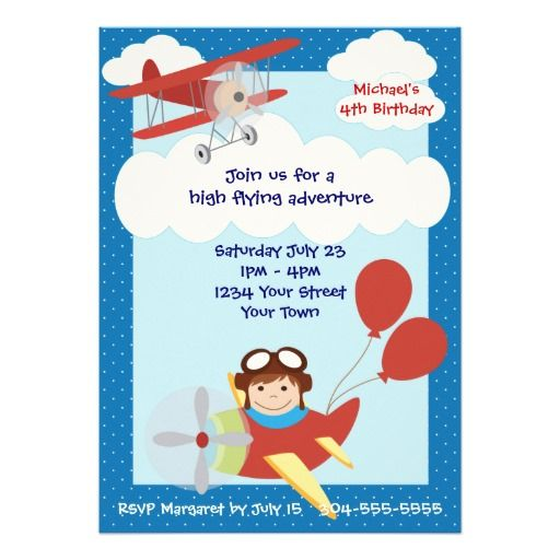 Items Similar To Airplane Birthday Invitation: 386 Best Images About Airplane Birthday Party Invitations