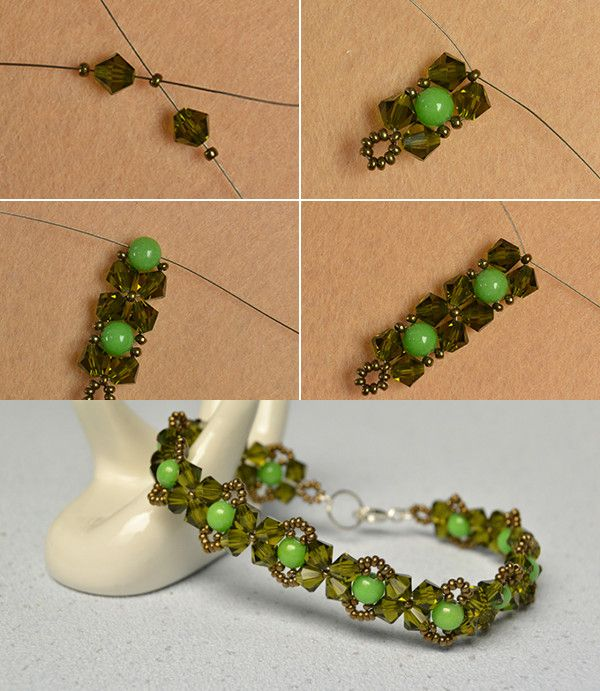 Like the fresh beaded bracelet?The tutorial will be published by LC.Pandahall.com