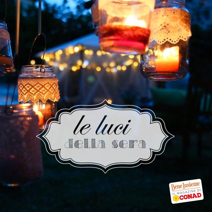 Per una serata suggestiva, prova a costruire da te #lanterne romantiche come quelle nella foto: è semplice! Clicca sulla foto di Conad Bene Insieme per scoprire come fare!