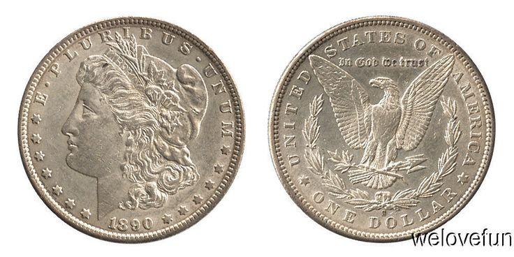 U. S. Morgan Dollar 1890 S Brilliant Unc Gem - Buy Silver Coins as Investment