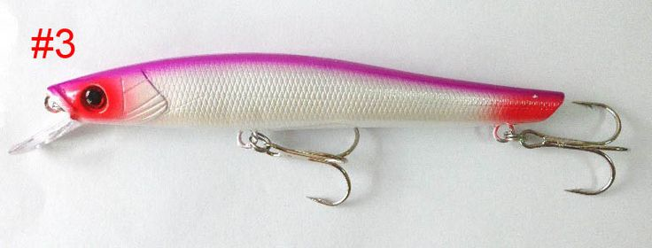 2015 soft bait fishing lures pesca fairy fishing lure 14.5cm 18g 2#hooks (mi049) 4colors minnow tackle bait big lures