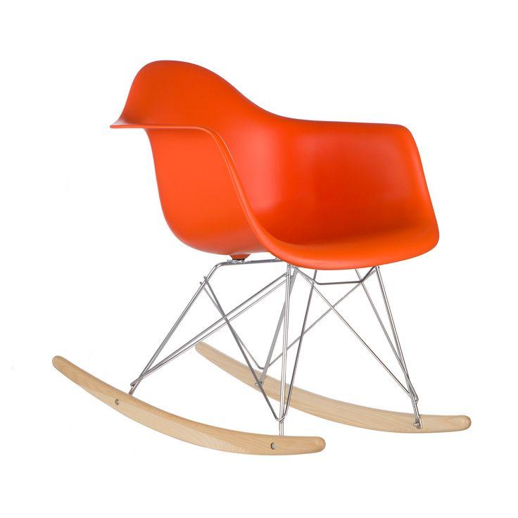 Delightful Modern Ash Wood Rocker In Orange Nice Design