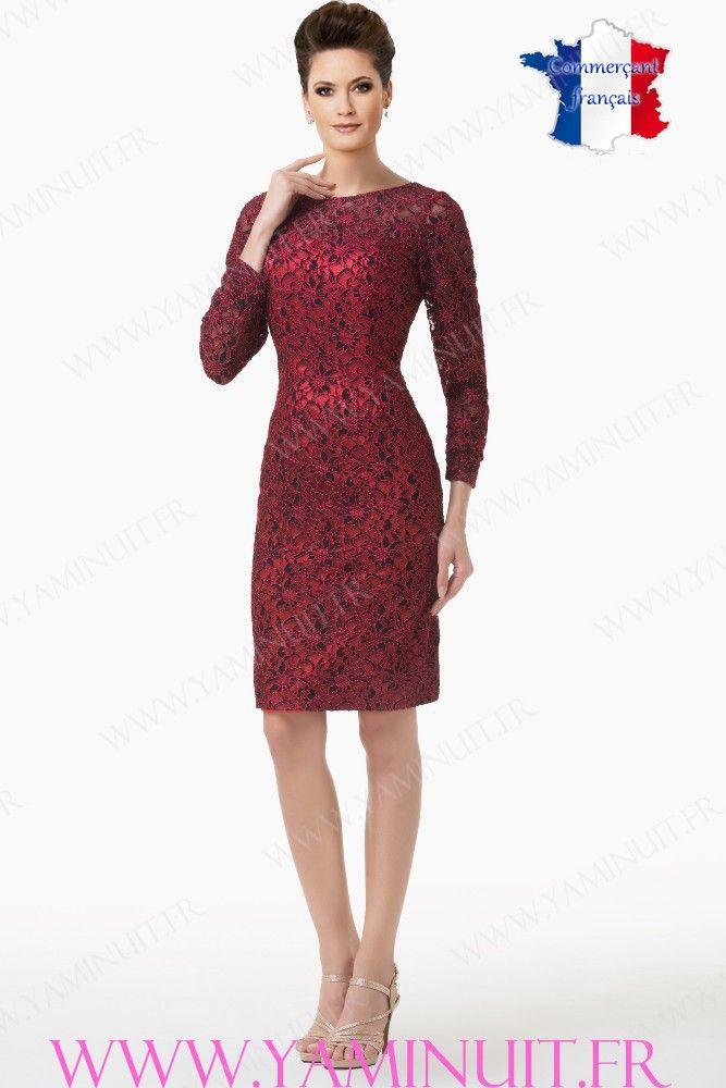 Robe rouge bordeaux dentelle