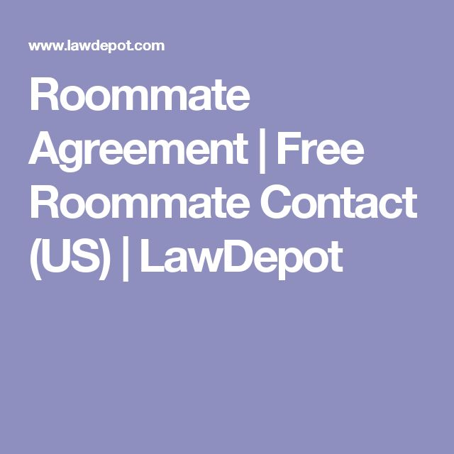 Roommate Agreement | Free Roommate Contact (US) | LawDepot