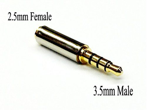 nice D & K Exclusives® Gold Plated 3.5mm Male to 2.5mm Female Headphone Audio Adapter Jack Stereo or Mono for Apple iPhone 3GS 4G 4S 5 Samsung Galaxy S3 S4 Galaxy Note 2 iPad 2 3 4 iPad Mini Check more at http://cellphonesforsaleinfo.com/product/d-k-exclusives-gold-plated-3-5mm-male-to-2-5mm-female-headphone-audio-adapter-jack-stereo-or-mono-for-apple-iphone-3gs-4g-4s-5-samsung-galaxy-s3-s4-galaxy-note-2-ipad-2-3-4-ipad-mini/