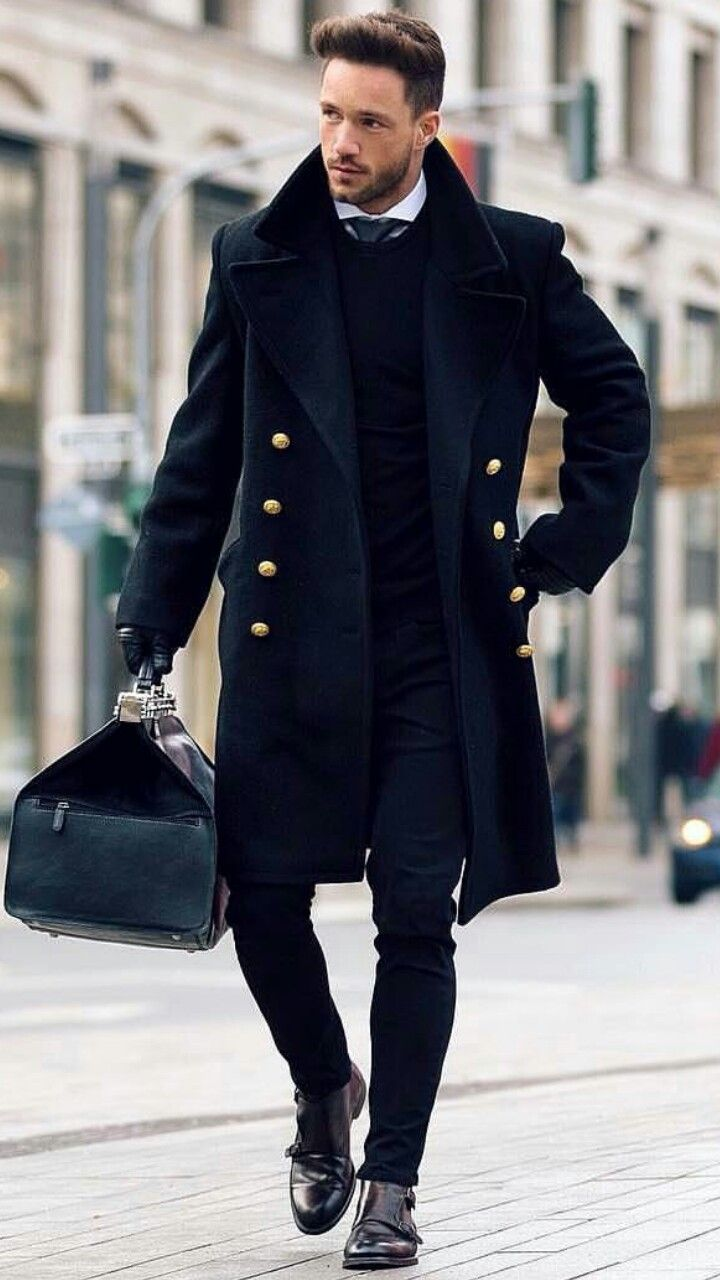 That coat!  And I guess maybe cutaway collars help make necktie/crewneck sweater work; good to know.