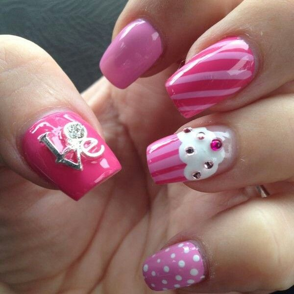 Love sweet Love - Get our LOVE nail jewel on www.nailcanfi.co.za Just glue onto nail - great for everyday wear and totally re-usable!