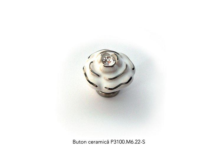 Buton ceramica su cristal P3100.M6.22-S