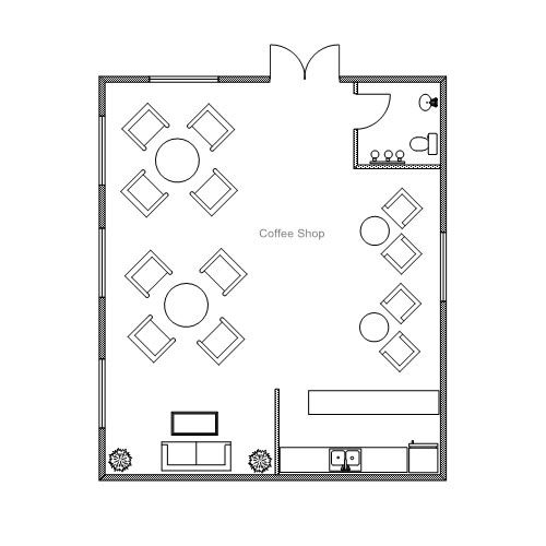 Small coffee shop design coffee shop floor plans holy for Floor plan search