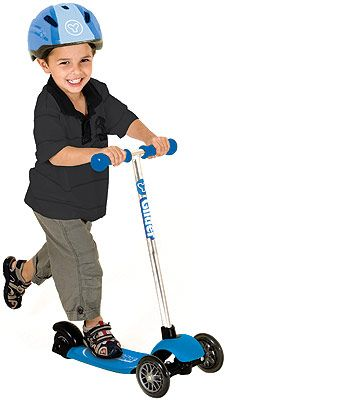 Yvolution Y Glider Deluxe Scooter Blue Toys Kick