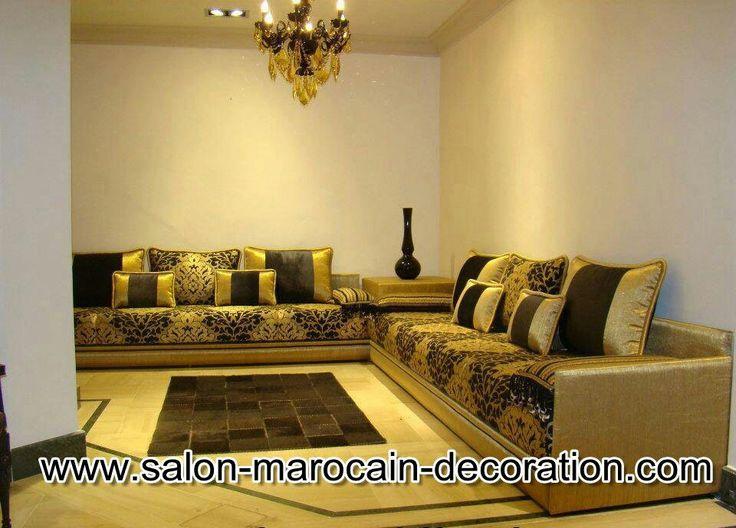 salon marocain meubles ameublement marocain noir salons construction meuble - Salon Marocain Peinture Gris