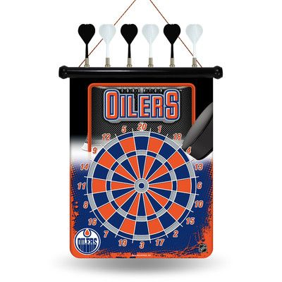 Rico NHL Magnetic Dart Board NHL Team: Edmonton Oilers