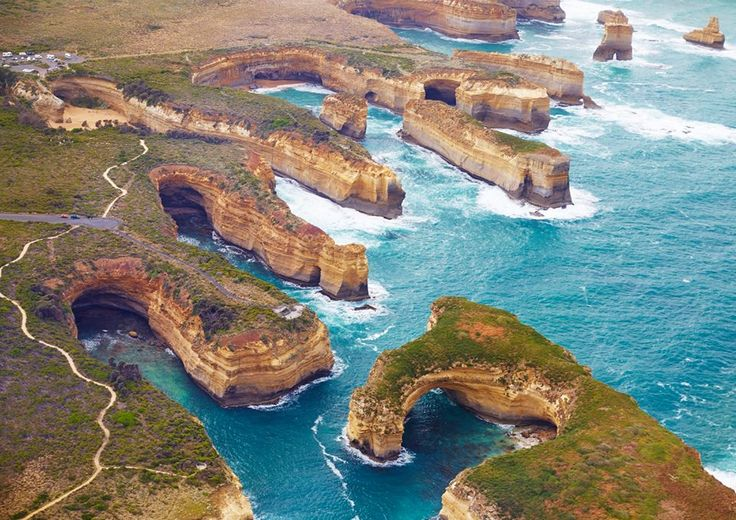 Scenic flight over Loch Ard Gorge...pretty spectacular right? (Photo: Elisa - The Best Job In The World Park Ranger with Apostle Coast Aviation)