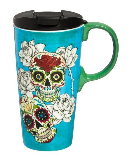 Cypress Home Day Of The Dead Ceramic Travel Mug Zulily