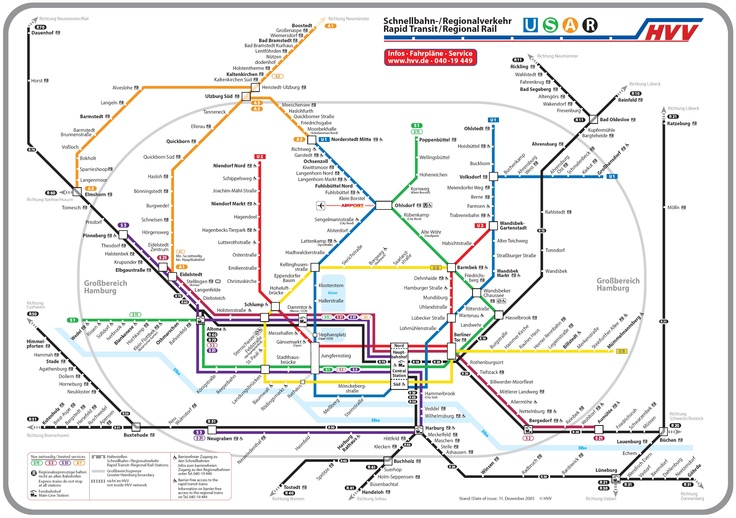 Hamburg Germany Subway Map