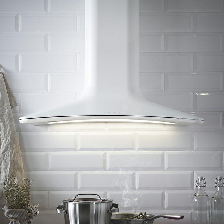 ikea witte afzuigkap harmonisk voor keuken in