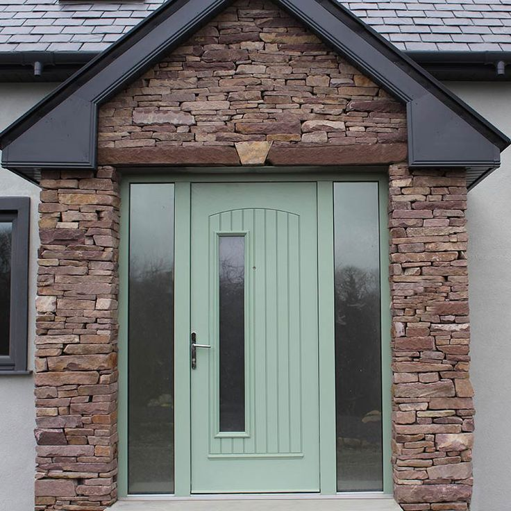 Beautiful modern front door in Chartwell Green. This door is a composite door from the Palladio collection. The Palladio composite door is the best door on the Uk and Irish market.