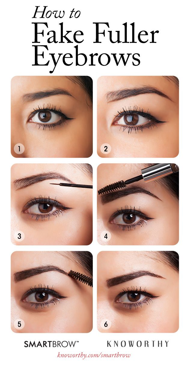 How to Fake Fuller Eyebrows in 6 Easy Steps | Perfect ...