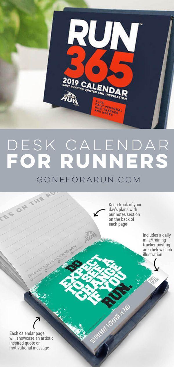 Inspirational Runner S 2021 Daily Desk Calendar Daily Desk Calendar Desk Calendars Running Gifts