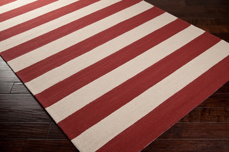 79 best images about rugs on pinterest runners in india for Red and white striped area rug
