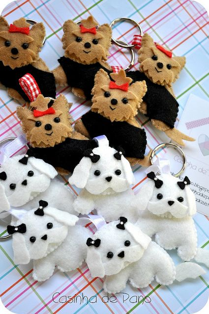 Very sweet little dog keyrings
