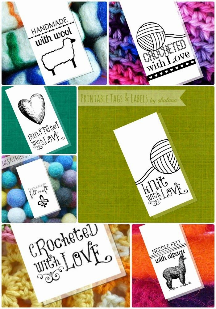 Tags labels printables for your handmade fiber crafts for Custom tags for crafts