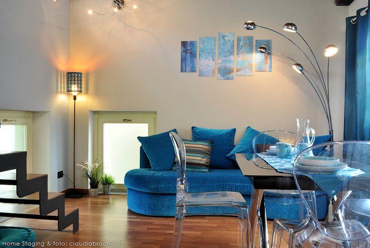 DIVANO TURCHESE - TURQUOISE SOFA' blue