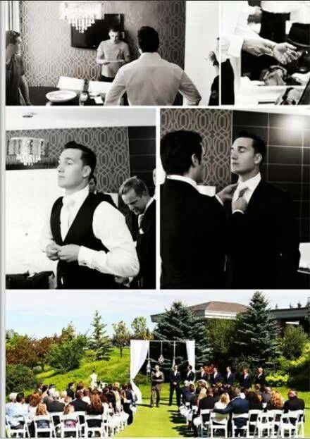 More pics from Charlie Cavill's wedding July 13, 2013. I love how Henry is helping Charlie with his tie!!