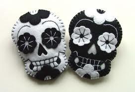 Cute felt sugar skulls