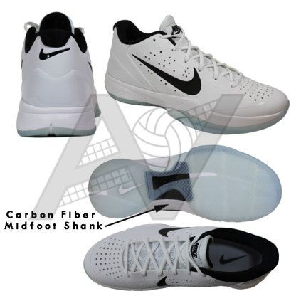 new style 6ff20 cf372 Nike Men s Air Zoom HyperAttack Volleyball Shoe - White Black Featuring Nike  Flywire technology and a tough outer shell that provides a durable upper,  ...